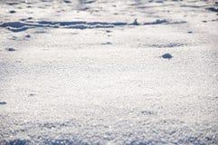 Fondo blanco de la nieve del invierno Imagen de archivo libre de regalías
