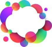 Fondo blanco de la nube con los círculos de color Fotografía de archivo libre de regalías