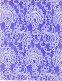 Fondo blanco de la púrpura del modelo del cordón de la textura Fotos de archivo