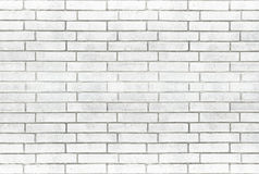 Fondo blanco de la pared de ladrillo Foto de archivo