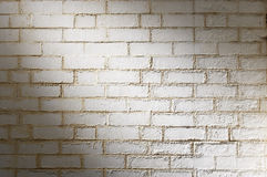 Fondo blanco de la pared de ladrillo Foto de archivo libre de regalías