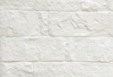 Fondo blanco de la pared de ladrillo Imagen de archivo