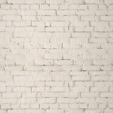 Fondo blanco de la pared de ladrillo Imágenes de archivo libres de regalías