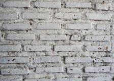 Fondo blanco de la pared de ladrillo Imagenes de archivo