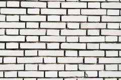 Fondo blanco de la pared de ladrillo en sitio rural Fotografía de archivo