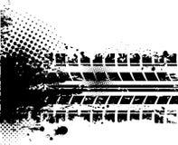 Fondo blanco de la pista del neumático Fotografía de archivo libre de regalías