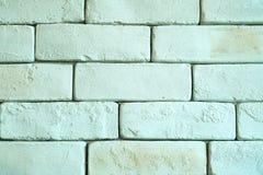 Fondo blanco de la textura de la pared de ladrillo Fotografía de archivo libre de regalías