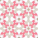 Fondo blanco de la textura del modelo inconsútil floral del diseño Imágenes de archivo libres de regalías