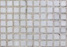 Fondo blanco de la textura del modelo de la pared de las tejas fotografía de archivo libre de regalías