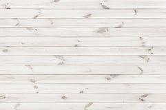 Fondo blanco de la textura del tablón de madera Foto de archivo