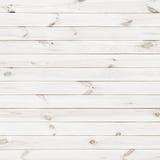 Fondo blanco de la textura del tablón de madera Imagenes de archivo