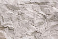 Fondo blanco de la textura Papel arrugado imágenes de archivo libres de regalías
