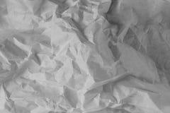 Fondo blanco de la textura Papel arrugado fotos de archivo
