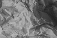 Fondo blanco de la textura Papel arrugado imagenes de archivo