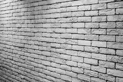 Fondo blanco de la textura de la pared de ladrillo Imagen de archivo libre de regalías