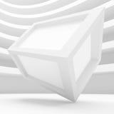 Fondo blanco del cubo Fotografía de archivo libre de regalías