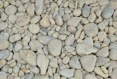 Fondo blanco del guijarro con las pequeñas piedras redondas Imágenes de archivo libres de regalías
