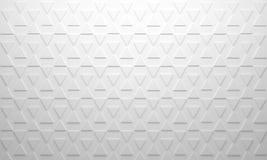 Fondo blanco del triángulo Foto de archivo libre de regalías