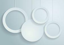 Fondo blanco del vector de los círculos Foto de archivo libre de regalías