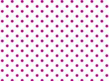 Fondo blanco del vector Eps8 con los puntos de polca rosados Fotografía de archivo