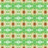 Fondo blanco feliz de la flor illustration.pattern Fotografía de archivo libre de regalías