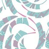 Fondo blanco inconsútil del color abstracto de las hojas que remolina Imágenes de archivo libres de regalías