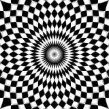 Fondo blanco negro del mosaico Fotografía de archivo