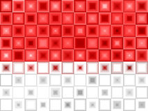 Fondo blanco rojo del azulejo Libre Illustration