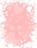 Fondo blanco rosado del corazón stock de ilustración