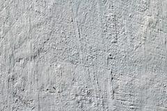 Fondo blanco sucio del muro de cemento Pared con el estuco pintado Fotografía de archivo libre de regalías