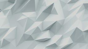 Fondo blanco Textura abstracta del triángulo metrajes