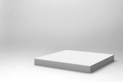 Fondo blanco vacío del cubo Fotografía de archivo