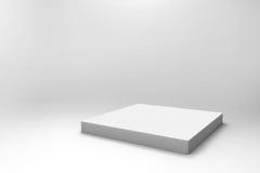 Fondo blanco vacío del cubo Imagenes de archivo