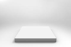 Fondo blanco vacío del cubo Fotos de archivo