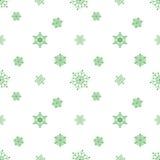 Fondo blanco verde en colores pastel del copo de nieve Fotografía de archivo libre de regalías