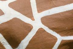 Fondo blanco y marrón del modelo Imagen de archivo