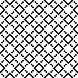 Fondo blanco y modelo de punto repeted negro Fotografía de archivo libre de regalías