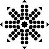 Fondo blanco y modelo de punto repeted negro Imagen de archivo