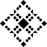 Fondo blanco y modelo de punto repeted negro Foto de archivo libre de regalías