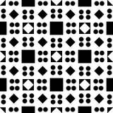 Fondo blanco y modelo de punto repeted negro Fotografía de archivo