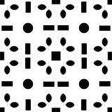 Fondo blanco y modelo de punto repeted negro Fotos de archivo libres de regalías