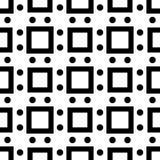 Fondo blanco y modelo de punto repeted negro Imagen de archivo libre de regalías
