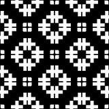 Fondo blanco y modelo de punto repeted negro Imágenes de archivo libres de regalías