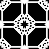 Fondo blanco y modelo de punto repeted negro Fotos de archivo