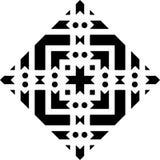 Fondo blanco y modelo de punto repeted negro Imagenes de archivo