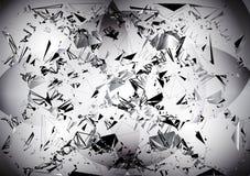 Fondo blanco y negro abstracto con adornos geométricos stock de ilustración