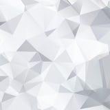Fondo blanco y negro abstracto de poligonal imagen de archivo libre de regalías