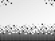 Fondo blanco y negro con los pixeles Imágenes de archivo libres de regalías
