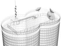 Fondo blanco y negro de la casa de la torre ilustración del vector