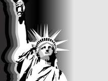 Fondo blanco y negro de la libertad de los E.E.U.U. Imagen de archivo